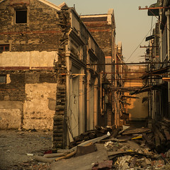 Shanghai, China (Sunset Noir) Tags: shanghai abandoned china old building street retro chinese city cooke leica m shang hai abandon moody asia