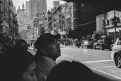 Man gazing into the distance, Two Bridges NYC (L A Nolan) Tags: 35mm 35mmf2 50mmequiv chinatown day fuji fujifilm fujifilmxpro2 fujinon fujinonxf35mmf2 manhattan newyork newyorkcity newyorknewyork ny nyc outdoors outside people streetphotography thebigapple xpro2
