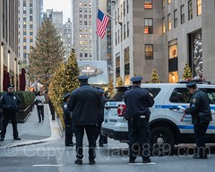 NYPD Police Officers, Rockefeller Center, New York City (jag9889) Tags: 20161201 jag9889 usa policepatrolcar car manhattan rockefellercenter policeofficer newyorkcity rockefellerplaza nypd outdoor 2016 christmastree newyork midtown auto automobile cop finest firstresponder lawenforcement ny nyc newyorkcitypolicedepartment officer police policedepartment transportation unitedstates unitedstatesofamerica vehicle us