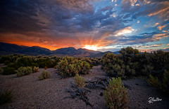 Sunset Rush (Riccardo Maria Mantero) Tags: clouds mantero riccardomariamantero sunset america blue landscape outdoors prairie sky summer sun sundesert travel