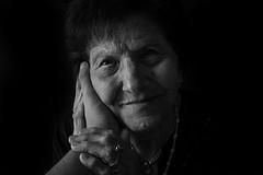 Nonni = vita (andreamendola) Tags: grandmather portrait old blackandwhite monocrhome fotografia foto pelle skin occhi occhio mani love life rughe eyes sguardo