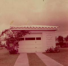 Good Likeness (The Lone Wadi Archives) Tags: kodacolor garage lostphoto foundphoto retro 1950s driveway boring dull mundane neighborhood