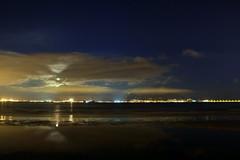 NOT SUPER MOON (botavara_50) Tags: supermoon superluna nocturna nubes cloud algeciras bahiadealgeciras campodegibraltar andalucia españa spain bajamar playa rinconcillo