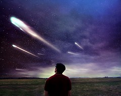 Sparkle (flippermood) Tags: conceptual portrait selfportrait nature stars artist fineart fineartphotography photographer artiste artista flickrfriday flippermood comet sky skyline clouds cloudy inspiration inspired dreams dreamy fantasy moody