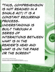 Educational Postcard: What is reading comprehension? (Ken Whytock) Tags: comprehension constant recurring rocess process understandning understanding interaction reader page screen