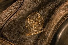 WWII Aviator Helmet--HMM! (amarilloladi) Tags: macro leatheraviationhelmet leather wwii aviation vintageaviation macromondays stitch texture vintange