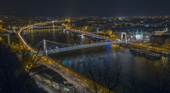 Budapest, Hungary (Wizard CG) Tags: budapest chain bridge hungary long exposure hdr skyline road sky architecture city epl7 ngc world trekker water night outdoor parliament danube unesco heritage list waterfront river landscape building infrastructure structure