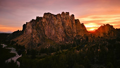 Smith Rock Sunset (Kevin Benedict Photography) Tags: smithrock statepark oregon sunset volcano tuff jefferson nikon landscape crookedriver forest photobenedict spring mountains desert bend redmond terrebonne volcanic ancient caldera