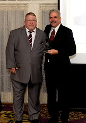 Wally Grummun (left) received the Anna Freeman Davies Founders Award.
