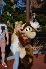 Magic Kingdom (Elysia in Wonderland) Tags: disney world orlando florida elysia holiday 2016 magic kingdom chip dale meet greet character chipmunks frontierland hugs