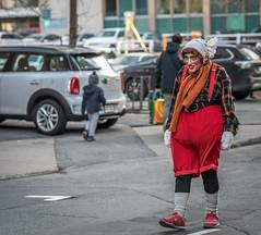 Zombie du temps des ftes (maoby) Tags: rouge zombie du temps des ftes nikon d500 85mm rue street nol montral mort vivant mortvivant