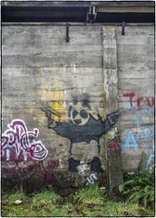 Pistol Packin' Panda (NoJuan) Tags: 6d eos6d 28cmf35nikkornai graffiti wallart manualfocuslensondslr eoswithmanualfocuslens nikkor nikkorlens