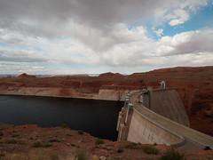 Glenn Canyon Dam (Fizzik.LJ) Tags: dam lake spring arizona usa clouds lakepowell az