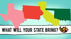 This Is What Each Of The 50 States Would Bring To A Potluck Thanksgiving (michiganapparelts) Tags: livnfreshcom this is what each of the 50 states would bring to a potluck thanksgiving