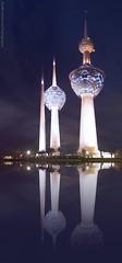 Reflection (khalid almasoud) Tags: kuwait towers vision reflection pentax k01 sky tourist pentaxk01 shop    photooftheday evening   camera landmarks buildings history sea coast scenery quiet beam pentaxflickraward photographyrocks
