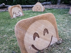 Sculptures by the Sea 2016 (gigchick) Tags: faces face sadface sad emoticon emoticons emoji cheeky joy laughing sculpture sculptures sculpturesbythesea