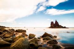 Benijo Cliffs (NicoTrinkhaus) Tags: spain tenerife cliffs sea clouds rocks ocean canary islands bluesky blue longexposure calm