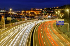 Exploring my city (Saioa Elizondo) Tags: lighttrails nikonphotography highway bilbao basquecountry barakaldo lights autopista nightphotography nightshot longexpo longexposure