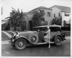 Actress with Packard (kevin63) Tags: lightner photo woman car vintage antique old packard runningboard thirties mansion california cloche hat convertible