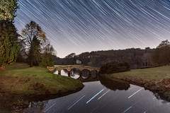 Stourhead star trail (Shaw_Photography) Tags: nationaltrust nikon night astrophotography astronomy nightsky reflections longexposure wiltshire england statelyhome stars startrails startrail themilkyway photography photographer