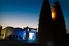 Pigeon Towers (noblerzen) Tags: aljazeera media cafe pigeontowers night street doha qatar nikon d500