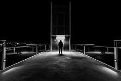 Just one way (Vitor Pina) Tags: street scenes shadows night contrast monochrome man momentos moments minimal photography pretoebranco people pessoas urban urbano