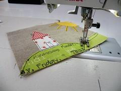 WIP (monaw2008) Tags: sun house vintage handmade linen purse pouch applique monaw monaw2008