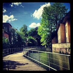 Dijlepad (Dirk De B!) Tags: river walking square belgium squareformat footpath mechelen flanders rivier dijle iphoneography instagramapp xproii uploaded:by=instagram foursquare:venue=4d7e3d57f635236a30116416