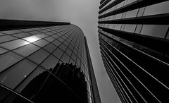Dark Forces (faranorclarke) Tags: urban bw building architecture buildings dark nikon wide sigma wideangle structure 1020mm 1020 d90 lightrom