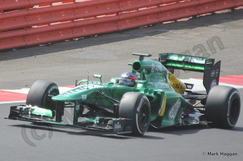 Will Stevens in Formula One Young Driver Testing at Silverstone, July 2013