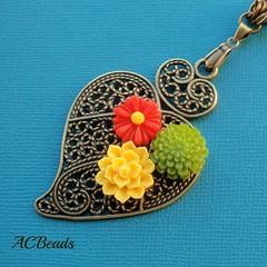 Detalhe / detail (ACBeads) Tags: portugal handmade tradicional handmadejewelry handmadejewellery handmadenecklace coraçãodeviana colarartesanal bijutariaartesanal acbeads