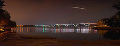 Day 295 - Forever Love I Won't Give Up No Matter What (Reg|Photography4Lyfe) Tags: longexposure bridge sky panorama water alexandria night reflections river skyscape landscape photography virginia pano panoramic daily 1935mm va 365 quantaray woodrowwilsonbridg