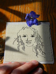 (Danny W. Mansmith) Tags: sample delphinium smallart dannymansmith drawingwiththesewingmachine