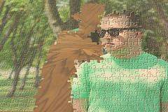 Break Away.... (JLC Photography Spokane,WA) Tags: trees selfportrait man male men guy sunglasses photoshop canon table 50mm washington trapped spokane break escape artistic creative free away puzzle photoaday 365 conceptual jigsawpuzzle breakaway escaped breakfree minnehahapark
