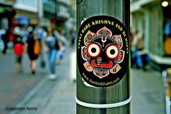 chant hare krishna and be happy (japanese forms) Tags: street analog sticker worship bokeh religion streetphotography streetlife pole devotion agfa chant streetshot harekrishna behappy bhakti mittelformat straatfotografie agfafilm strasenfotografie chantharekrishnaandbehappy japaneseforms2013