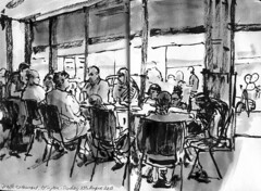 Giraffe Restaurant Islington sketch (taraghb) Tags: restaurant sketch giraffe islington