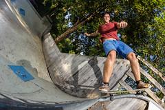Meuse - 50/50 to Fakie (Todt Geyer) Tags: canon woods nikon skateboarding skateboard blackriver 24 8mm walimex sb miniramp wunsiedel samyang strobist 60d wunseidel