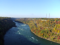 Looking along the river below Niagara Falls. (denisbin) Tags: niagarafalls river fall autumn foliage leaves trees colourful