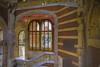 Down the staircase view (Glenn Shoemake) Tags: barcelona hospitalsantpau canonef1635f28lii
