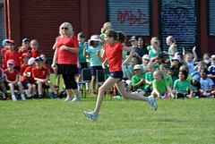 Sports Day 2014 - K literally flying along!