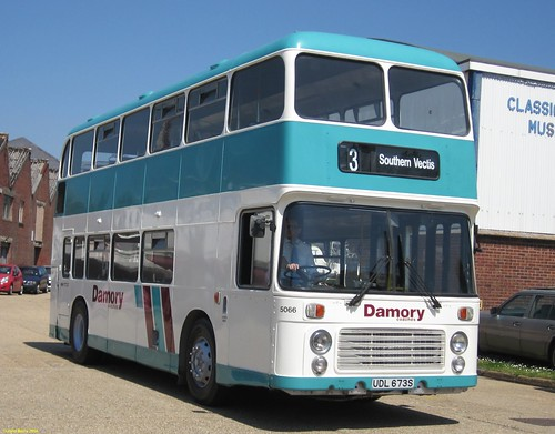 ECW bodied Bristol VRT UDL673S at the IOW Bus Museum Running Day 18 May 2014