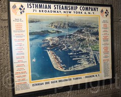 Isthmian Erie Basin Breakwater Terminal Brooklyn NY Poster, Maritime Industry Museum at Fort Schuyler, Throggs Neck, Bronx, New York City (jag9889) Tags: nyc newyorkcity usa ny newyork history museum unitedstates fort bronx unitedstatesofamerica exhibit historic collection thebronx fortification suny peninsula maritimemuseum 2014 throgsneck nationalregisterofhistoricplaces throggsneck nrhp stateuniversityofnewyork allamericacity fortschuyler eastbronx maritimeindustrymuseum stateuniversityofnewyorkmaritimecollege jag9889