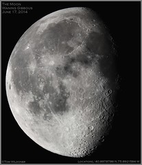 Waning Gibbous Moon June 17 2014 (The Dark Side Observatory) Tags: morning sky moon june night canon timelapse telescope crater astrophotography astronomy nightsky gibbous solarsystem meade 2014 waning waninggibbous nighsky tomwildoner