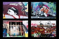 3 - Promenade dans les rues de Gand = Gent Werregarentraat  = Ruelle aux graffitis Streetart Regards (melina1965) Tags: streetart nikon belgium belgique mosaic belgi mosaics april avril gent gand mosaque 2014 mosaques oostvlaanderen d80 flandreorientale