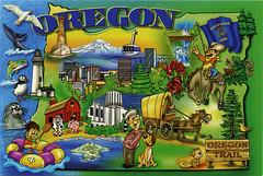 postcard - Oregon map 5 (Jassy-50) Tags: oregon map postcard cartoon mapcard cartoonmap