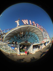 Entrance for Twister (CoasterMadMatt) Tags: park summer fish lund eye season lens fun tivoli amusement ride fairground stockholm july fair fisheye attachment theme amusementpark rides juli twister funfair grönalund themepark gröna sommar djurgården fisheyelens iphone 2014 objektiv nöjesfält grona gronalund grönan iphonephotos iphone4s july2014 juli2014