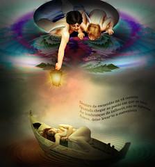 The river current (jaci XIII) Tags: flow boat barco fantasy fantasia fractal cupid current cupido correnteza