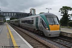 22026 at Portlaoise, 28/7/14 (hurricanemk1c) Tags: irish train rail railway trains railways irishrail rok rotem 2014 portlaoise icr iarnrd 22000 22026 ireann iarnrdireann 4pce 1400heustoncork