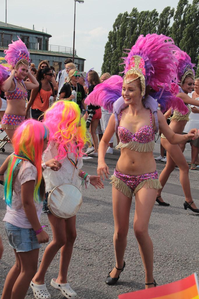 Gay women dancing