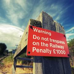 Warning (Furious Zeppelin) Tags: sign warning nikon railway d80 killingholme furiouszeppelin fz